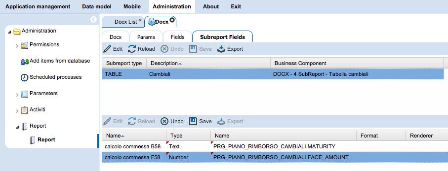 4WS.Platform - Report sottoreport